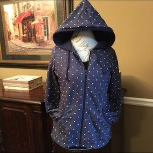 Coldwater Creek Polka Dot Hoodie, Size PS